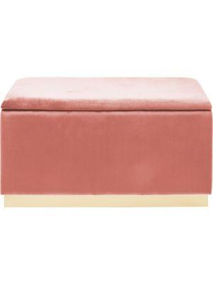 Kare Design Cherry Bankje - B120 x D40 x H42 cm - Roze Fluweel - Messing
