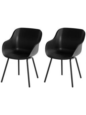 Hartman Sophie Rondo Elegance Chair - Set van 2 Tuinstoelen - Carbon Black