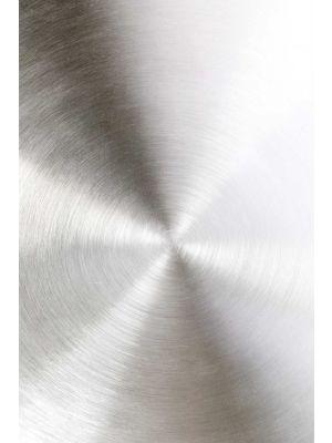 Zuiver Snow Ronde Bijzettafel - Ø40 x H45 cm - Satin Brushed Tafelblad - Zwart Metalen Onderstel