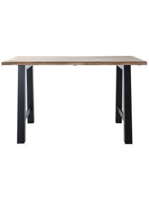 24Designs Walker Bartafel - L195 x B80 x H90 cm - Tafelblad Acacia Hout - Zwart Metalen Poten