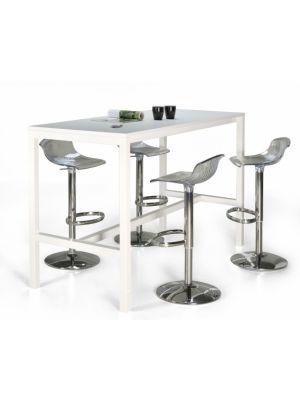 24Designs Hoge Bartafel Werktafel en Statafel Block - L160 x B80 x H110 cm - Wit