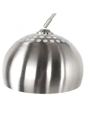 24Designs Booglamp XXL - H220/245 cm - RVS - Wit Marmeren Voet