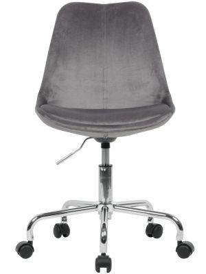 24Designs Bureaustoel DEX Grijs Fluweel DesignOnline24
