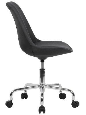 24Designs Bureaustoel Dex Office - Kuipzitting Stof Zwart - Kruispoot op wielen