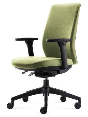 24Designs Move SYNCHRO-4 Ergonomische Bureaustoel EN1335 - Groene Stof - Zwart Onderstel