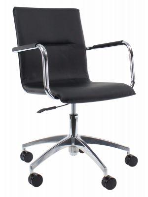 24Designs Bureaustoel & Vergaderstoel Toronto Office - Zwart Leer