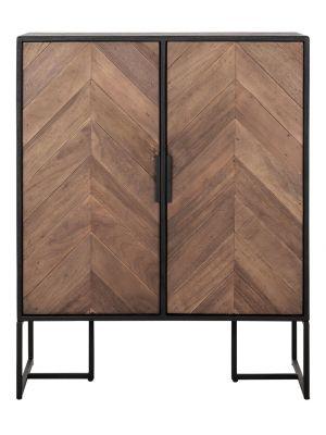 24Designs Criss Cross Dressoir - B75 x D40 x H94 cm - Zwart/Bruin