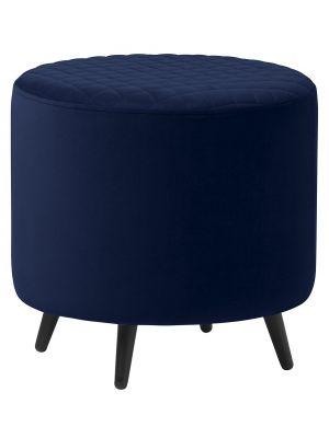 24Designs Dylana Kruk - B45 x D45 x H45 cm - Blauw Fluweel