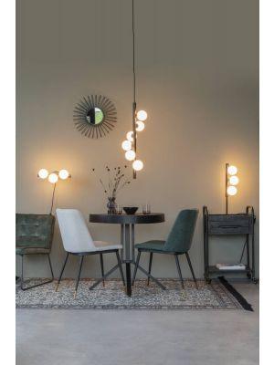 24Designs Lucy Hanglamp - B28 x H76 cm - Wit Glas