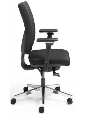 24Designs NPR 1813 Ergonomische Bureaustoel Office - ARBO Keur - Zwarte Stof - Chromen Onderstel