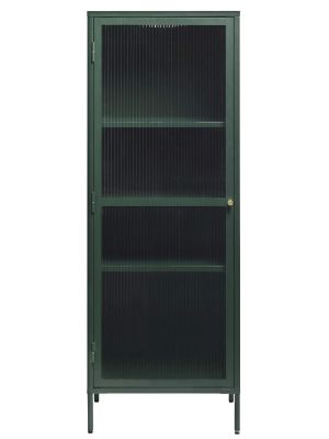 24Designs Prato Vitrinekast 1-Deur - B57 x D40 x H160 cm - Dennengroen