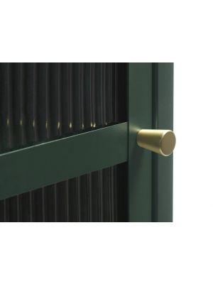 24Designs Prato Vitrinekast 3-Deurs - B132 x D40 x H85 cm - Dennengroen