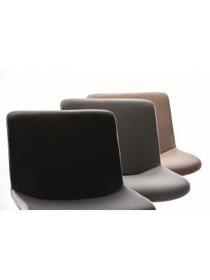 24Designs Verstelbare Barkruk Dean - Grijs Kunstleer - Mat Zwart Onderstel