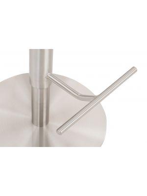 24Designs Fedor Hoge Rugleuning Verstelbare Barkruk - Antracietgrijs - Geborsteld Staal