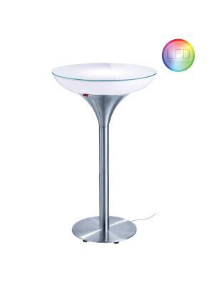 Moree Lounge M Indoor LED Bartafel - Ø60 x H105 cm - Wit