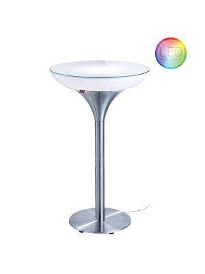 Moree Lounge M Outdoor LED Bartafel - Ø60 x H105 cm - Wit