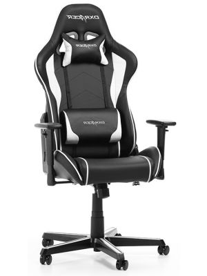 DXRacer Formula-series Game & Bureaustoel - Zwart/Wit PU