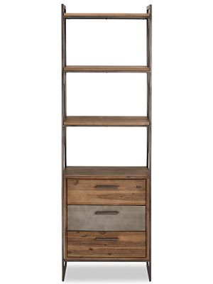 24Designs Mallorca Boekenkast - B60 x D40 x H190 cm - Massief Acaciahout