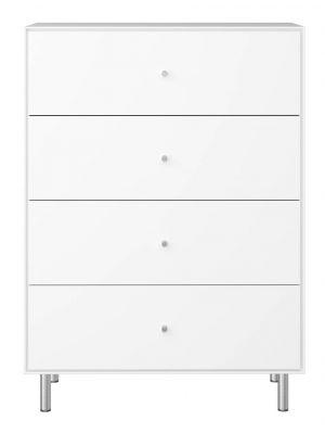 24Designs Maga Ladekast met 4 lades B80 x D40 x H111 cm - Wit