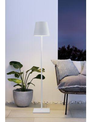 Moree Quint In Hoogte Verstelbare Buitenlamp - Ø28 x H150 cm - Wit