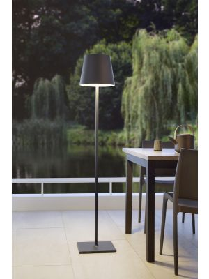 Moree Quint In Hoogte Verstelbare Buitenlamp - Ø28 x H150 cm - Antraciet