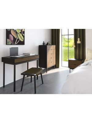 24Designs Soma Bureau B100 x L51 x H80 cm – Zwart/Bruin