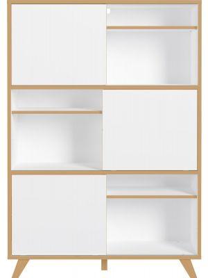 24Designs Nico Opbergkast - B120 x D40 x H172 cm - Wit