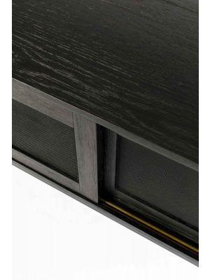 Zuiver Hardy Dressoir - B160 x D45 x H60 cm - 2-Schuifdeuren - Zwart