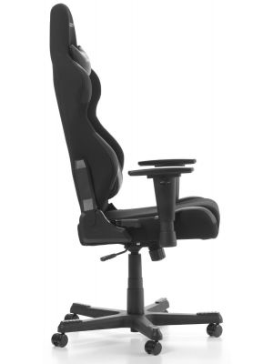 DXRacer Racing-series Game & Bureaustoel - Zwarte Stof - Zwart PU