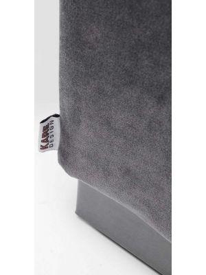 Kare Design Cherry Bankje - B120 x D40 x H42 cm - Grijs Fluweel - Grijskleur