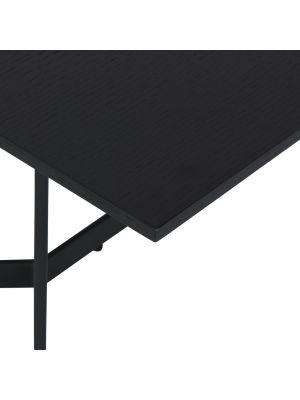 24Designs Tokyo Bijzettafel - B70 x D70 x H52 - Zwart Eikenfineer - Metaal