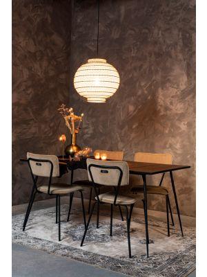 Dutchbone Ming Hanglamp - Ø50 x H46 cm - Zwart/Wit