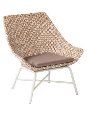 Hartman Delphine Wicker Loungestoel – Honey – Aluminium Onderstel