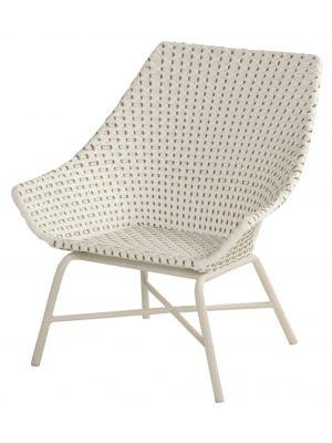 Hartman Delphine Wicker Loungestoel – Moccacino – Aluminium Onderstel