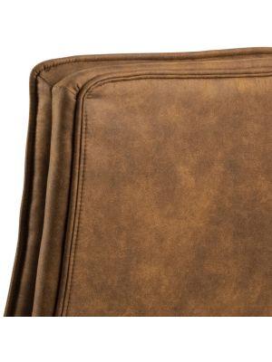 24Designs Dorian Bureaustoel - Stof Camel - Zwart Onderstel met Wielen
