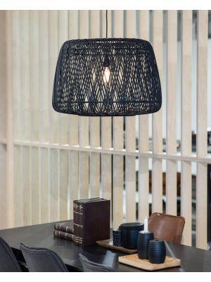 WOOOD Exclusive Moza Hanglamp - Bamboe - Zwart