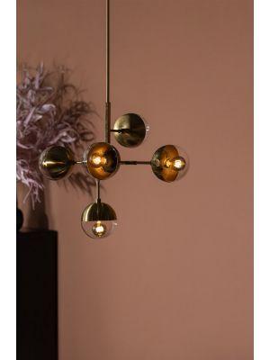 BePureHome Globular Hanglamp - Metaal - Antique Brass