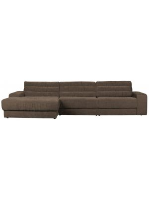 BePureHome Date Chaise Longue Links  - Vintage Stof - Warm Grey