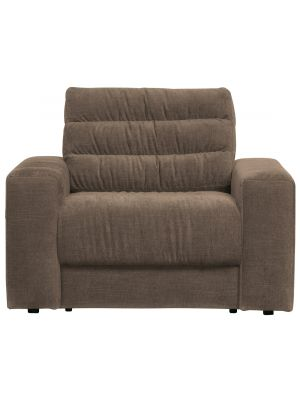 BePureHome Date Fauteuil - Vintage Stof - Warm Grey