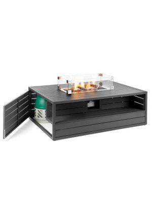 Happy Cocooning Vuurtafel Aluminium - Rechthoek - Antraciet Grijs