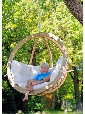 Amazonas Globo Chair Hangstoel 1-Persoons Antraciet Kussens - Vurenhout