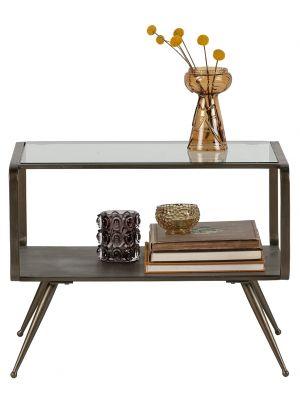 BePureHome Fancy Bijzettafel - 60x50x46 cm - Metaal/Glas - Antique Brass