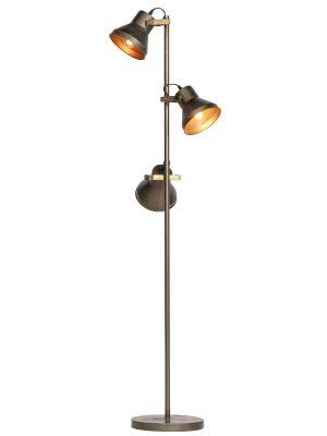 BePureHome Triplet Vloerlamp - 45x45x165 - Metaal Antique Brass