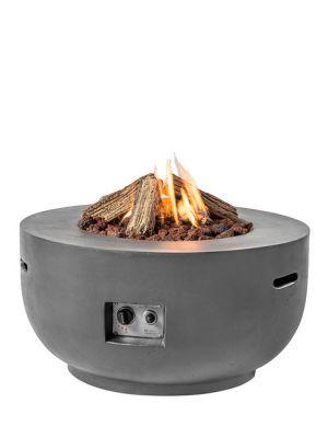 Happy Cocooning Vuurtafel Bowl Rond - Ø91 cm - Antraciet + Gasdrukregelaar