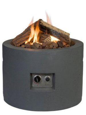 Happy Cocooning Vuurtafel Rond - Ø61 cm - Antraciet grijs + Gasdrukregelaar