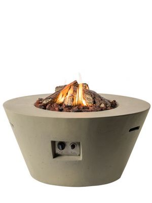 Happy Cocooning Vuurtafel Cone Rond - Ø96 cm - Taupe + Gasdrukregelaar