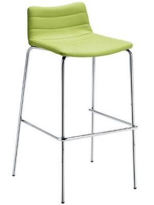MIDJ Cover MT S Barkruk - Set van 2 - Zithoogte 65 cm - Kunstleer Lime Groen - Chromen Onderstel