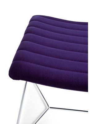 MIDJ Cover AT M TS Fauteuil - Fenix Wool Fabric Vinaccia - Chromen Frame