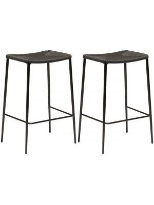 Dan-Form Stiletto Counter Barkruk – Set van 2 - Zithoogte 65 cm – Zwart