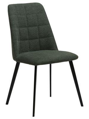 Dan-Form Embrace Stoel - Set van 2 - Stof Groen - Zwarte Metalen Poten